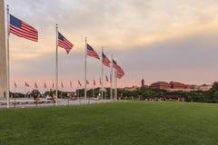 Círculo das bandeiras, monumento de Washington Fotografia de Stock