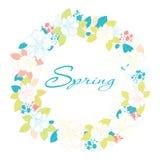 Círculo das flores Fotografia de Stock Royalty Free