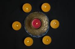 Círculo das velas fotografia de stock