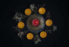 Círculo das velas imagens de stock royalty free