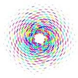 Círculo de óvalos coloreados libre illustration