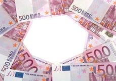 Círculo de 500 euro- notas de banco Imagens de Stock Royalty Free