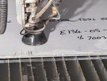 Círculo de aço inoxidável futurista, entalhe do entalhe do laser da forma Imagem de Stock