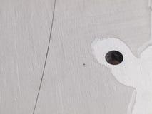 Círculo de aço inoxidável futurista, entalhe do entalhe do laser da forma Fotos de Stock