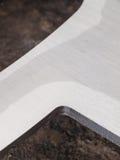 Círculo de aço inoxidável futurista, entalhe do entalhe do laser da forma Fotografia de Stock Royalty Free