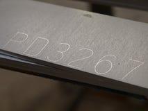Círculo de aço inoxidável futurista, entalhe do entalhe do laser da forma Imagens de Stock