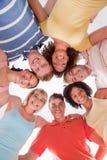 Círculo de amigos felices Imagen de archivo libre de regalías