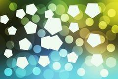 Círculo de Bokeh que tem a cor bonita Fotos de Stock