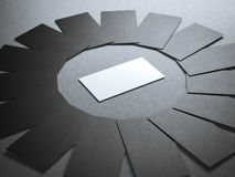 Círculo de cartões vazios Imagens de Stock Royalty Free