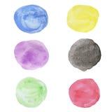Círculo de color de agua Fotografía de archivo libre de regalías