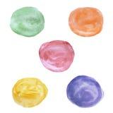 Círculo de color de agua Foto de archivo