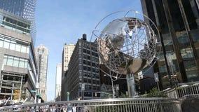 Círculo de Columbus en New York City almacen de metraje de vídeo