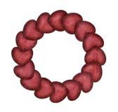 Círculo de corazones Foto de archivo libre de regalías