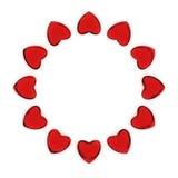 Círculo de corazones Imágenes de archivo libres de regalías