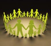 Círculo de famílias ilustração royalty free