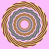 Círculo de giro excêntrico. ilusão ótica Fotografia de Stock Royalty Free