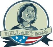 Círculo de Hillary Clinton Presidente 2016 Imagenes de archivo