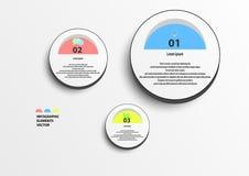 Círculo de Infographic Foto de archivo libre de regalías