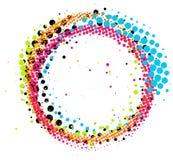 Círculo de intervalo mínimo colorido abstrato do redemoinho do pincel isolado Imagens de Stock Royalty Free