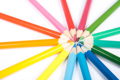 Círculo de lápices Imágenes de archivo libres de regalías
