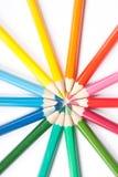 Círculo de lápices Fotografía de archivo
