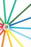 Círculo de lápices Fotos de archivo libres de regalías