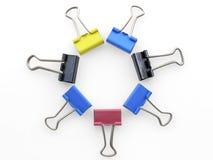 Círculo de la abrazadera de la oficina Fotografía de archivo