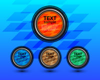 Círculo de la etiqueta Imagen de archivo libre de regalías