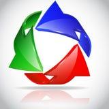 Círculo de la flecha Imágenes de archivo libres de regalías
