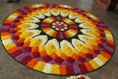 Círculo de la flor imágenes de archivo libres de regalías