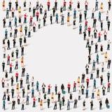 Círculo de la forma de la gente del grupo ilustración del vector