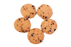 Círculo de la galleta de viruta de chocolate Imagen de archivo