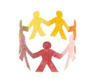 Círculo de la gente colorida Imagenes de archivo