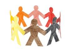 Círculo de la gente colorida Imágenes de archivo libres de regalías