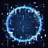 Círculo de la interferencia Objeto redondo en efecto del estilo del ordenador Arte del diseño del vector ilustración del vector