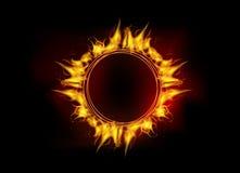 Círculo de la llama del fuego del vector libre illustration