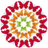 Círculo de la mariposa ilustración del vector