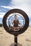 Círculo de la meditación Fotos de archivo