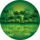 Círculo de la selva stock de ilustración
