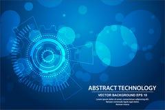 Círculo de la tecnología del vector y fondo de la tecnología, concepto de alta tecnología de la comunicación del fondo abstracto  libre illustration