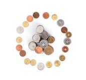 Círculo de las monedas Imagen de archivo