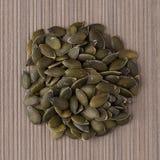 Círculo de las semillas de calabaza Imagen de archivo libre de regalías