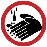 Círculo de lavagem da mão ilustração do vetor