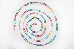 Círculo de los clips de papel Fotografía de archivo libre de regalías