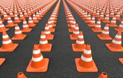 Círculo de los conos del tráfico Imágenes de archivo libres de regalías