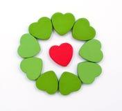 Círculo de los corazones Foto de archivo libre de regalías
