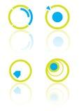 Círculo de los elementos de la insignia stock de ilustración