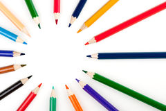Círculo de los lápices del color Imágenes de archivo libres de regalías