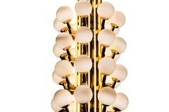 Círculo de lujo del bulbo de los posts de la lámpara Imagen de archivo libre de regalías