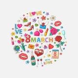 Círculo de marzo Foto de archivo libre de regalías